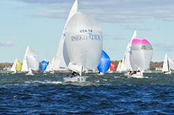 J24 sailing East Coast regatta