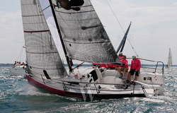 J/88 Touch2Play sailing upwind