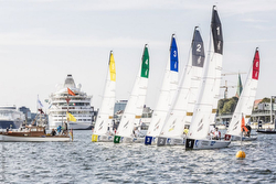J/70s starting at German Sailing League