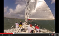 J/120 YouTube sailing video of Harvest Moon race