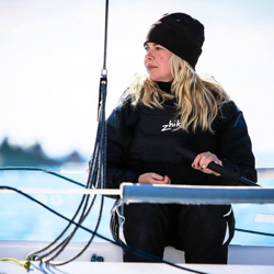 Top J/70 Russian woman sailor- Valerya Kovalenko sailing Monaco