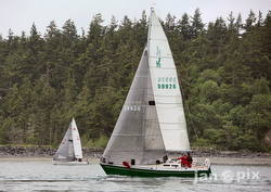 J/30 sailing Race to the Straits in Seattle