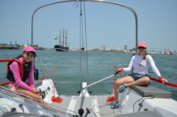 J/88 sailing Cartagena, Columbia