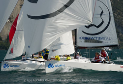 J/70 sailing Alcatel J/70 Cup on Lake Garda, Italy