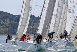 J/80s sailing regatta
