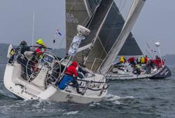 J/109 sailing off Newport, RI