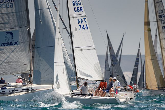 J/70 sailing Cowes Round Island Race