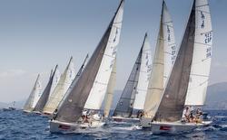 J/80s sailing off Palma Mallorca, Spain in Copa del Rey