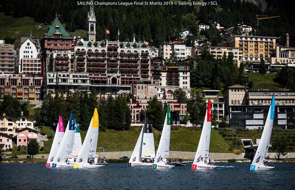 J/70s sailing St Moritz, Switzerland