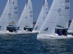 J/70s sailing Lake Constance/ Bodensee regatta