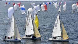 J/80s sailing SPI Ouest