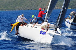 J/105 Dark Star sailing BVI Spring regatta