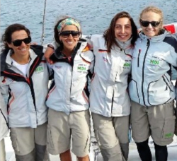 J/105 women sailors in Chile