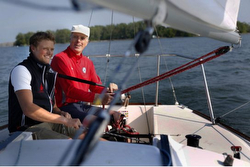 McLaughlin family sailing J/24 off Toronto