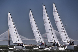 J/70s sailing Charleston Harbor