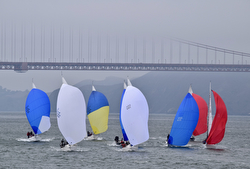 J/105s sailing San Francisco Bay
