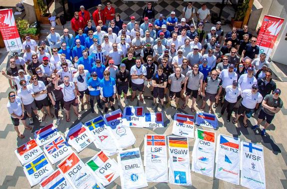 J/70 Sailing Champions League teams at Yacht Club Costa Smeralda, Italy