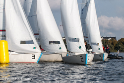 J/22s team racing in Hamburg, Germany
