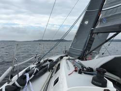 J/111 Blur sailing Tjorn Singlehanded race upwind
