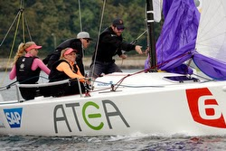J/70 sailing with Danish women sailors