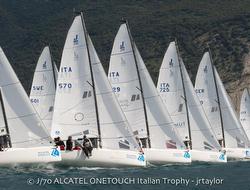 J/70s sailing Lago di Garda, Italy