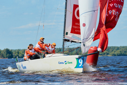 J/70 racing Russia Sailing League off Moscow