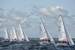 J/70s sailing Marblehead ONE regatta