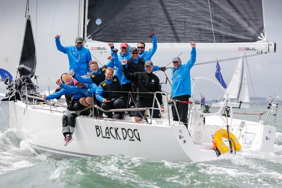 J/122 Black Dog sailing RORC IRC Nationals