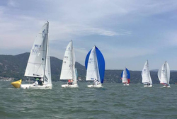 J/70s sailing Mexico golf & yachting event on Valle de Bravo