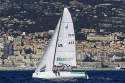 J/70 Team GRUN sailing for Germany off YC Monaco- Primo Cup