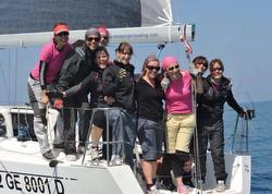 Italian women J/80 sailors