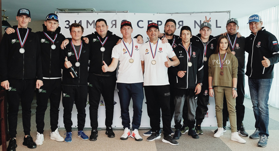 Russia J/70 Winter Series winners podium
