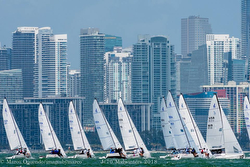 J/70s sailing Midwinters off Miami