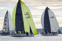 J/88s sailing Hamble Winter Series- Solent, England