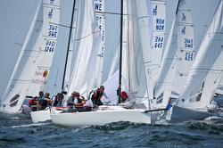 J/70s sailing one-design regatta