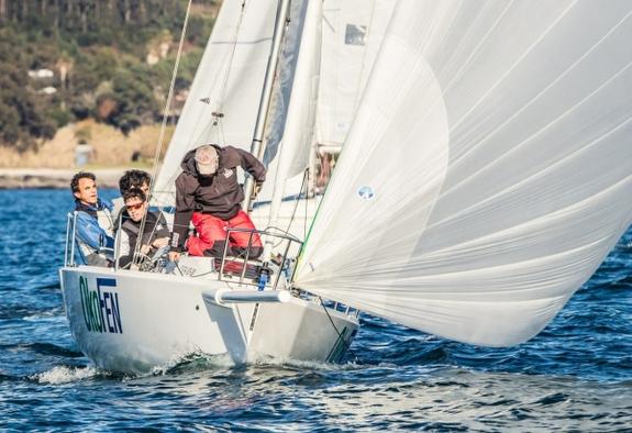 J/80 sailing off Spain