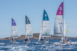 J/70s sailing off Sardinia- YC Costa Smeralda team race