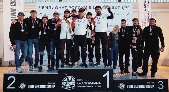 J/70 Sochi Russia winners podium