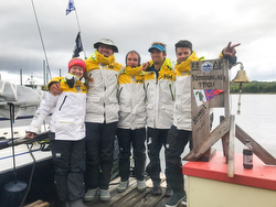 J/88 Blue Flash Race to Alaska team