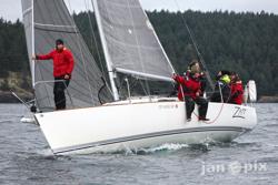 J/92 sailing off Seattle, WA