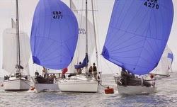 J/24s sailing Royal Solent Regatta