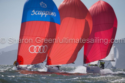 J/70's sailing Worlds on San Francisco  Bay
