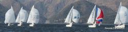 J/24s sailing Argentina Lago San Roque