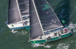 J/120s sailing Rolex Big Boat Series