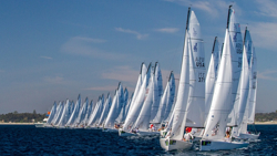 J/70 fleet sailing off start