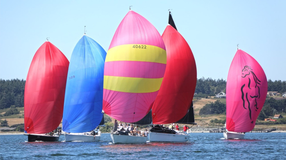 J/109s sailing Whidbey Island Race Week