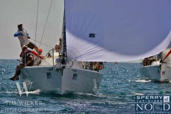 J/109 sailing off Chicago NOOD regatta