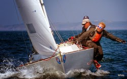 J/22 sailing on Hamburg, Alster Lake, Germany