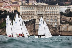 J/70s sailing off Monaco- Winter Series