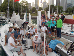 J/88 class party at Chicago NOOD Helly Hansen regatta